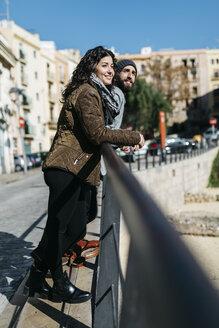 Spain, Tarragona, Young couple smiling - JRFF000453