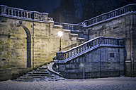 Germany, Coburg, Arcades in winter by night - VT000515