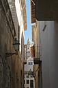 Spain, Palma de Mallorca, facades of an alley in the old town - VIF000460