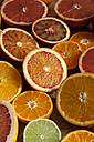 Halves of different citrus fruits - VABF000257