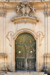 Italy, Sicily, Noto, Parrocchia Madonna del Carmine, portal of church - CSTF000972