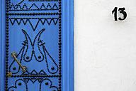 Tunisia, Sidi Bou Said, typical blue entry door - DSGF001033