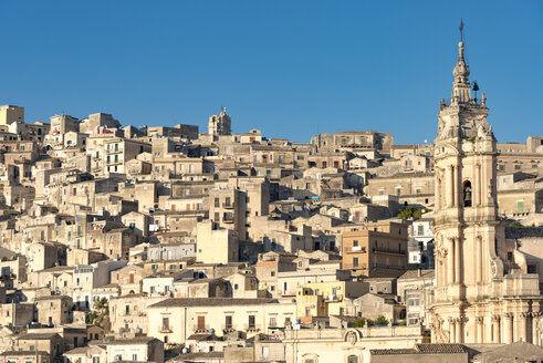 Italy, Sicily, Modica, cityscape with Church San Giorgio - CSTF000991