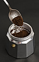 Filling an Italian espresso can - RAEF000925