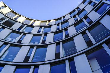 Germany, Hamburg, part of facade of modern office building - HOHF001398