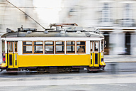 Portugal, Lisbon, yellow tram - MAU000289