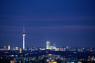 Germany, Berlin, view from Rudow to lighted television tower at Berlin-Mitte - TAMF000387