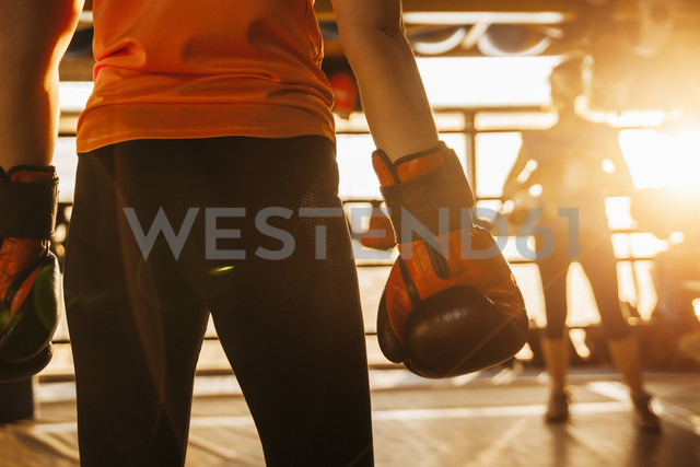 Two female boxers in ring - ZEDF000071