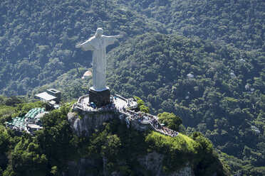 Brazil, Rio De Janeiro, Corcovado mountain with statue of Christ the Redeemer - MAUF000316