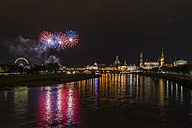 Germany, Dresden, firework, old town festival - PVCF000806