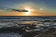 Italy, Sicily, Ragusa, Coast of Punta Braccetto at sunset - CSTF000996