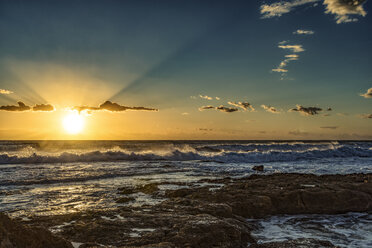 Italy, Sicily, Ragusa, Coast of Punta Braccetto at sunset - CSTF001008