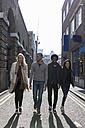 Group of friends walking on urban street - BOYF000169
