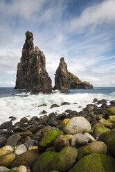 Portugal, Madeira, rock formations near Ribeira da Janela - MKFF000273