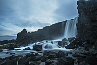 Iceland, Thingvellir National Park, waterfall Oexararfoss - PAF001673