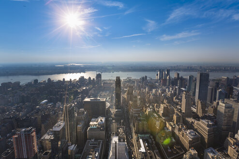 USA, New York City, view to Midtown Manhattan from above - HSIF000415