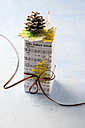 Christmas present wrapped in music paper - MY001407