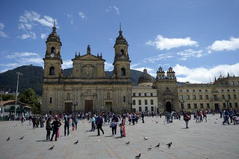 Colombia, Bogota, Plaza Bolivar, Catedral Primada de Colombia - FLKF000633