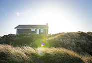 Denmark, Henne Strand, House in the grass dunes - BMA000180