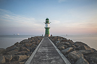 Germany, Warnemuende, Lighthouse in the morning - ASCF000539