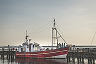 Germany, Warnemuende, Harbour, Fishing boat - ASCF000545