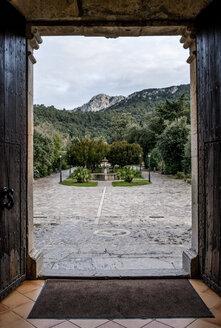 Spain, Mallorca, Lluc Sanctuary in UNESCO world heritage site Serra de Tramuntana - LM000568