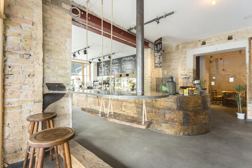 Indoor view of a modern coffee shop - TAMF000439