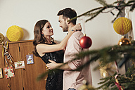Couple dancing at New Year's Eve party - MFF002917