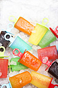 Different colorful ice lollies and ice cubes - RTBF000045