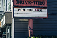 Canada, drive-thru sign - NGF000319
