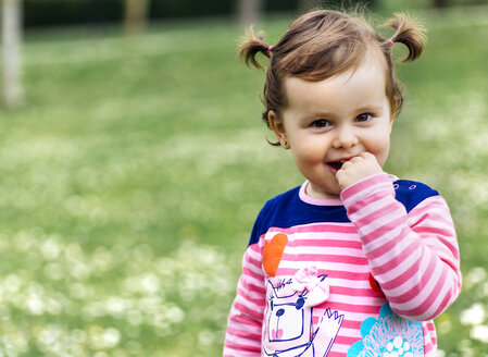 Portrait of little girl with braids - MGO001649