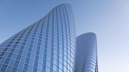 3D-Rendering, modern high-rise buildings - UWF000834