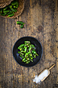 Bowl of fried Pimientos de Padron - LVF004696
