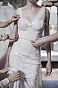 Wedding dress designer working, wedding dress - ZEF008652