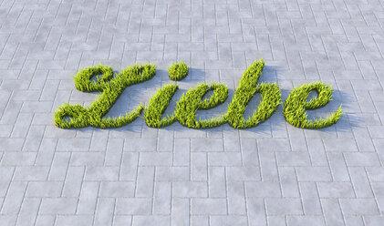 Grass on concrete, love - CMF000381