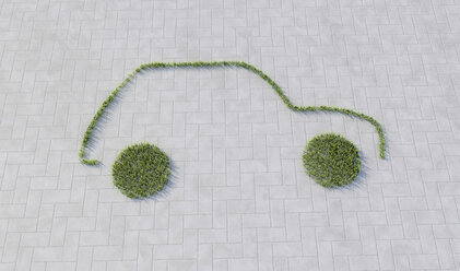 Grass contour of eco car - CMF000382