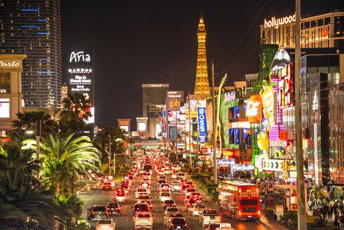 USA, Nevada, Las Vegas at night - LEF000053