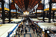 Hungary, Budapest, People shopping at Central Market - GEM000831