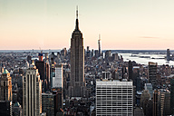USA, New York, Manhattan, Empire State Building in the evening - FCF000885