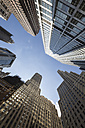 USA, New York City, Manhattan, Financial District, view from below - FCF000896