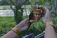 Barong dancer, girl mirrored in mirror - TOVF000047