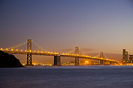 USA, Bay Bridge of San Francisco in the evening - GIOF000820
