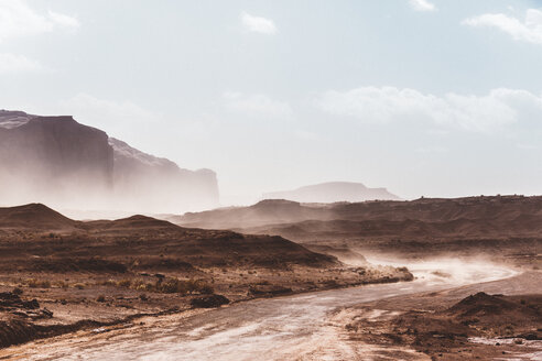 USA, Utah, Monument Valley during a sand storm - GIOF000849