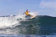 Indonesia, Bali, surfing man - KNTF000273