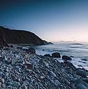 Spain, El Ferrol, bay at blue hour, long exposure - RAEF001046