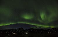 Iceland, Snaefellsnes, green polar light at night - FCF000916