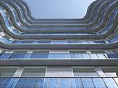 Facade of high-rise building seen from below, 3D Rendering - UWF000843
