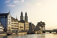 Switzerland, Zurich, View to Great Minster, Limmat river - PUF000501