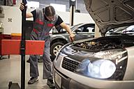 Adjustment and testing of car lights in workshop - JASF000674