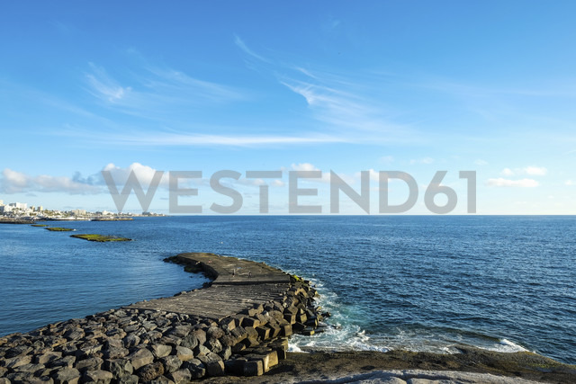 Spain, Tenerife, ocean with a pier - SIPF000359